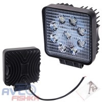 Фара прожектор LML-K0727 FLOOD (9led*3w) 105mm*105mm