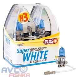 Лампы PULSO/галогенные H3/PK22S 12v55w super white/plastic box
